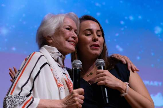 "Moderating ""An Evening With Ellen Burstyn"" at the Florida Film Festival"