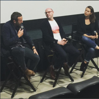 "Moderating ""Love After Love"" with director Russ Harbaugh and star Chris O'Dowd"